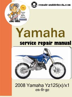 2008 yamaha yz125 x x1 workshop service repair manual. Black Bedroom Furniture Sets. Home Design Ideas