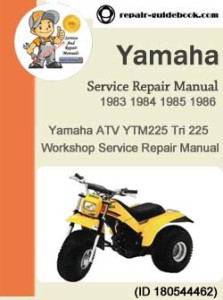 1983 1986 yamaha atv ytm225 tri 225 service repair manual. Black Bedroom Furniture Sets. Home Design Ideas