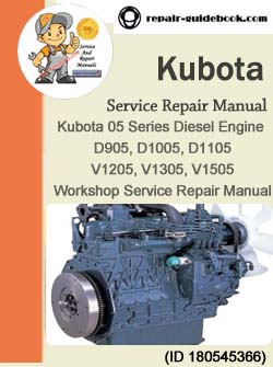 New Kubota V1305 Engine WORKSHOP MANUAL