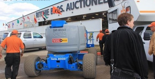 Auction auxiliary equipment, aerial platform truck