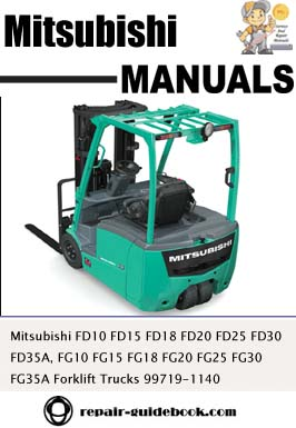 ... FG20 FG25 FG30 FG35A Forklift Trucks Workshop Service Repair Manual
