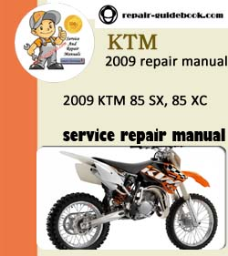 2009 KTM 85 SX, 85 XC Workshop Service Repair Manual Download