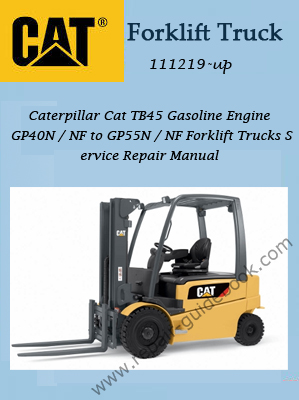 Caterpillar Cat TB45 Gasoline Engine Trucks Workshop Service Repair Manual Download 111219-up