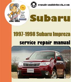 1997-1998 Subaru Impreza Workshop Factory Service Repair Manual