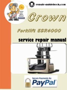 Crown Forklift ESR4000 Series Parts Manual