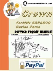 Crown Forklift ESR4500 Series Parts Manual