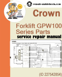 Crown Forklift GPW1000 Series Parts Manual Download (English French German)