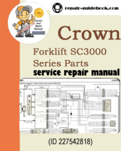 Crown Forklift SC3000 Series Parts Manual Download (English French German)