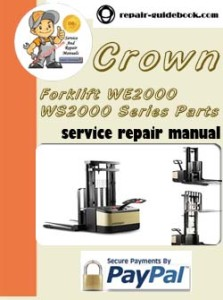 Crown Forklift WE2000 WS2000 Series Parts Manual