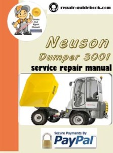 Neuson Dumper 3001 Workshop Service Repair Manual