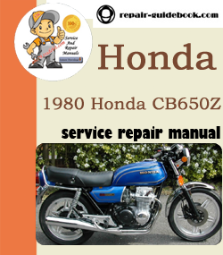 1980 Honda CB650Z Service Repair Manual