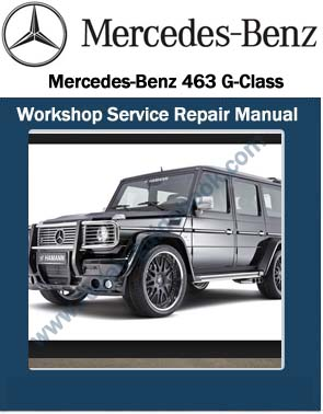 mercedes benz 463 g class workshop service repair manual