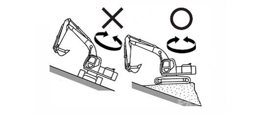Machine in snow-covered ground operations shall comply with the following tips