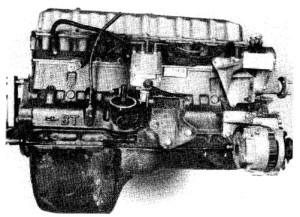 7.3~ Inline six-cylinder engine - right side view