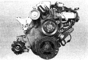 7.3a lnline six-cylinder engine - front view