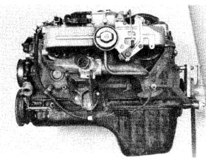 7.3b Inline six-cylinder engine - left side view