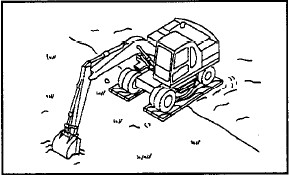 Komatsu PW170ES-6 HOW TO ESCAPE FROM MUD 1