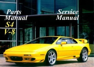 LOTUS ESPRIT s4 v-8 parts service repair manual