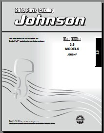 2002 Parts Catalog Johnson Evinrude 3.5HP models j3rsnf Manual pdf download