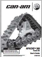 can-am Apache Track Kit 360 Operator's User's Guide